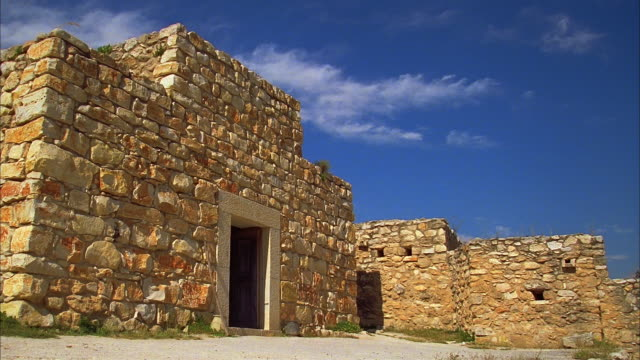 vídeos de stock, filmes e b-roll de t/l, ms ancient stone buildings, jerusalem, israel - jerusalém