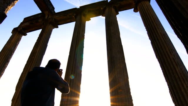ancient temple aizanoi - ancient greece stock videos & royalty-free footage