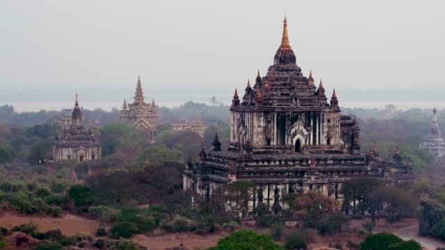 ancient temples in bagan, myanmar - myanmar stock videos and b-roll footage