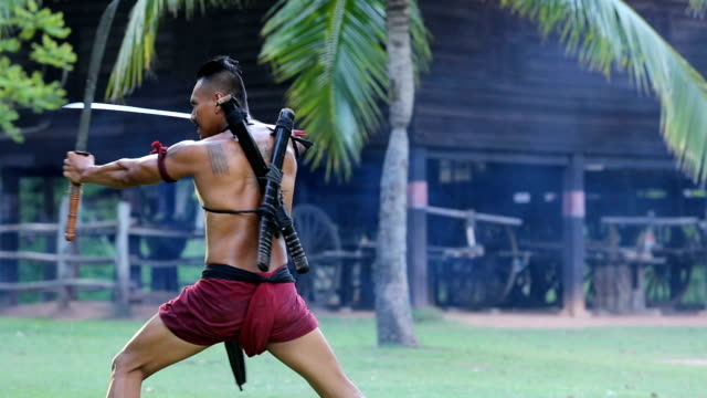 ancient thai warrior - weaponry stock videos & royalty-free footage