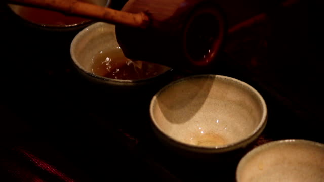 Ancient tradition of Chinese tea-drinking rituals