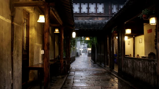 ancient water town of wuzhen - zhejiang province stock videos & royalty-free footage