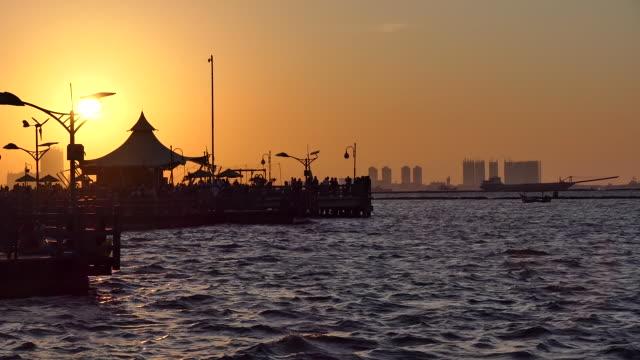 vídeos y material grabado en eventos de stock de ancol jakarta bay city. - yakarta