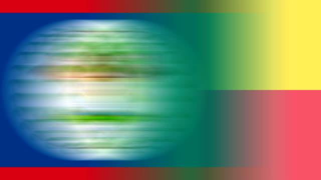 deutschland, und alle mitgliedstaaten der vereinten nationen (endlosschleife) - italienische flagge stock-videos und b-roll-filmmaterial