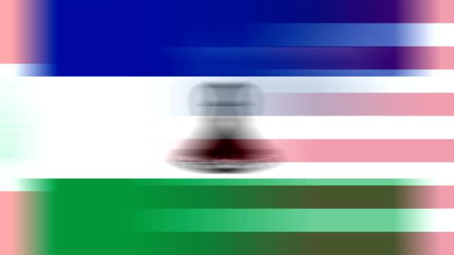 la russia e gli stati membri delle nazioni unite (loop) - bandiera nazionale video stock e b–roll