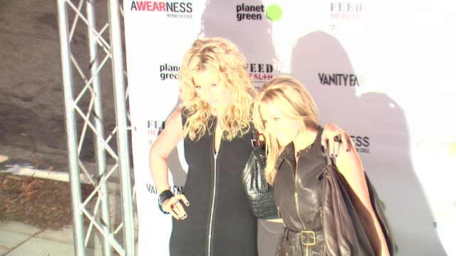 AJ and Aly Michalka at the Kenneth Cole Awearness Feed Projects Celebrate The Feed Health Backpack at Santa Monica CA