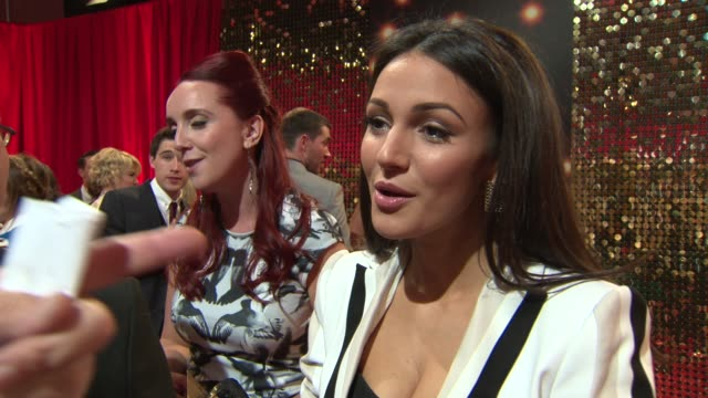 and broll - winner of the sexiest female award, actress michelle keegan on leaving coronation street and her upcoming marriage as she attends the... - soap opera stock videos & royalty-free footage