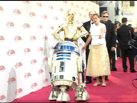 and c-3po at the 33rd afi life achievement award 'a tribute to george lucas' at the kodak theatre in hollywood, california on june 9, 2005. - afi life achievement award stock videos & royalty-free footage
