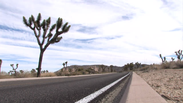 rv and campers on desert highway - palm springs california stock videos & royalty-free footage