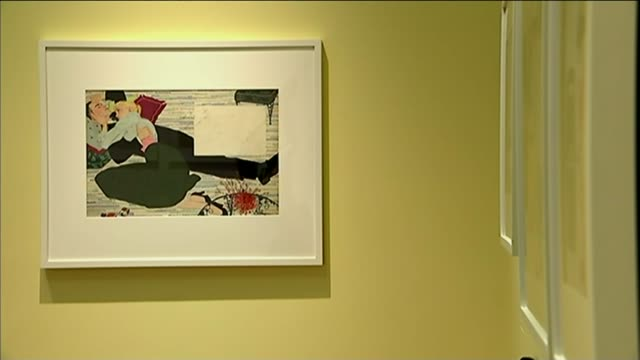 1950s advert illustrator mac conner interview framed print on wall - illustrator stock videos and b-roll footage