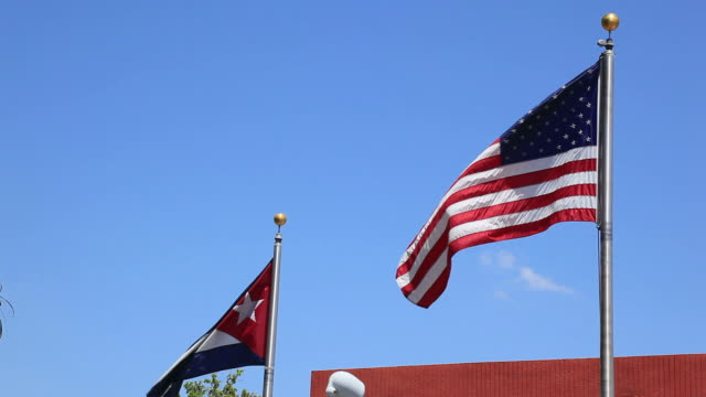 Estados Unidos y cubanos Flags
