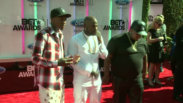 YG and DJ Mustard at the 2014 BET Awards on June 29 2014 in Los Angeles California