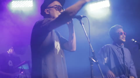 ms 2mc and dj performing on stage / shimokitazawa, tokyo, japan - live event stock videos & royalty-free footage