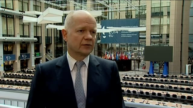 us and eu impose sanctions on russia after crimea vote william hague mp interview sot so far russia has not shown any room for compromise or to set... - 制裁点の映像素材/bロール