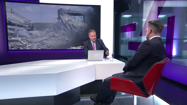 USA UK and France air strikes against Syria reaction and debate ENGLAND London GIR INT Stewart McDonald MP STUDIO interview SOT