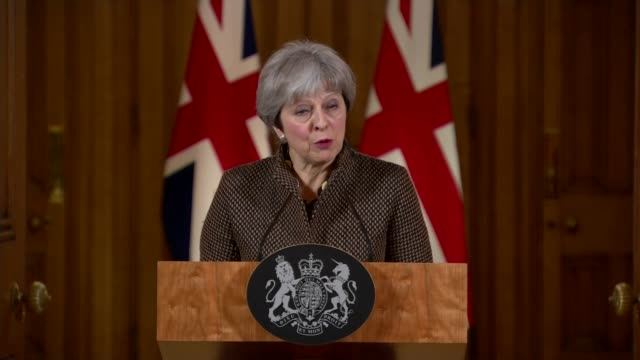 usa uk and france launch military strikes against syria in response to douma chemical attack england london 10 downing street int theresa may in to... - 10 downing street stock videos and b-roll footage