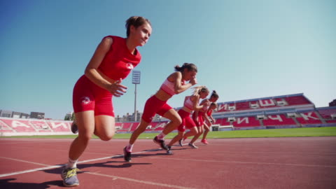 1,2,3 and goooo - track and field stock videos & royalty-free footage
