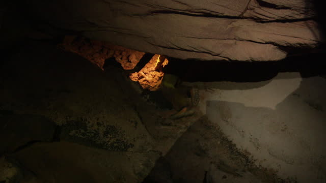 POV and handheld sequence showing the exploration of a cave network in a Tepui mountain, Venezuela.