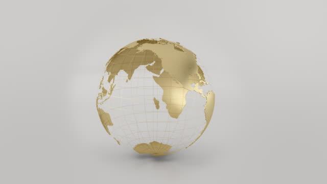 3 D und HD-goldene Erde loop animation