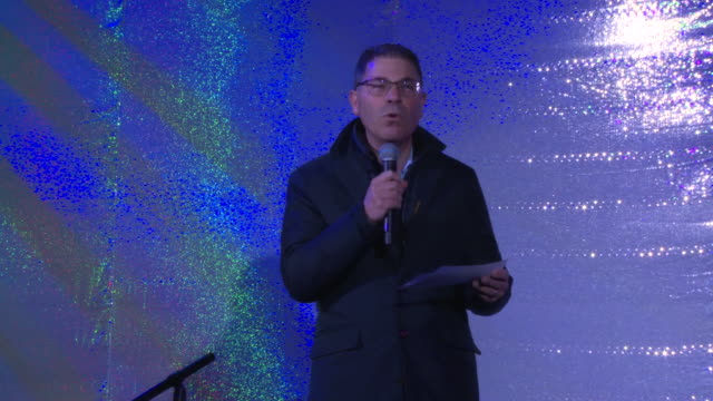 speech and interview tony spring welcomes audience and shares the theme of this year's window designs talks about the activations inside at... - bloomingdales stock videos & royalty-free footage