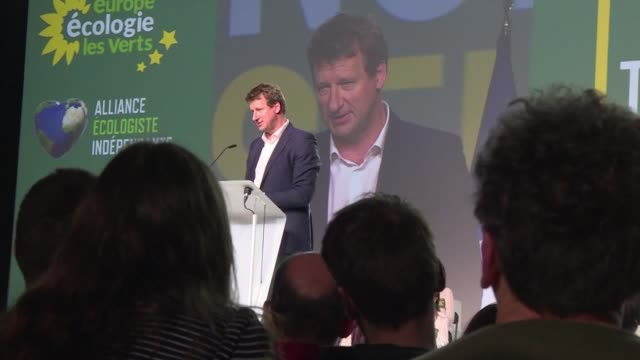 MEP and leading French candidate on the EELV green party list for the Europeans elections Yannick Jadot holds his first major campaign meeting in...