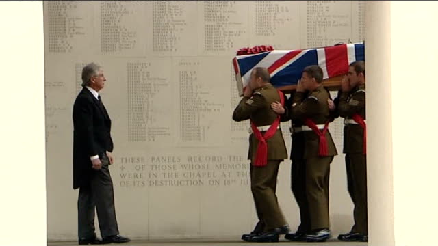 date and location union flag draped coffin carried past war memorial - union army stock videos & royalty-free footage