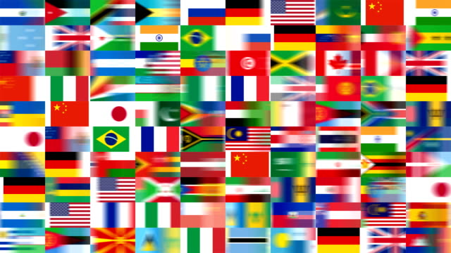 multiple top ten and member states of united nations (loop) - national flag stock videos and b-roll footage