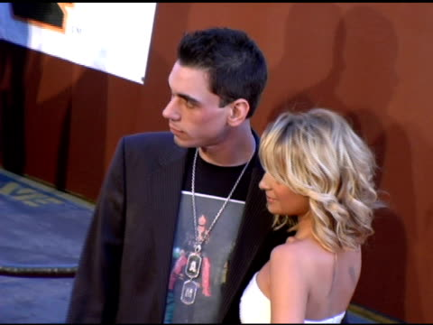 DJ AM and Nicole Richie at the 19th Annual Soul Train Music Awards arrivals at Paramount Studios in Hollywood California on February 28 2005