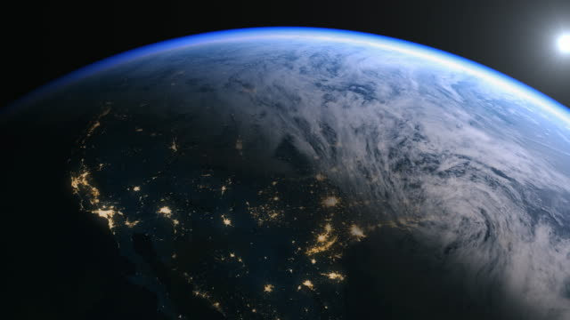 usa and north america seen from space in 4k. - zoom in stock videos & royalty-free footage