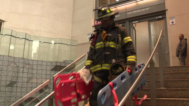 fdny and nypd respond to train derailment on the long island railroad at atlantic station in brooklyn ny - long island railroad stock videos and b-roll footage