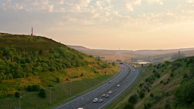 m62 and reflections - west yorkshire stock videos & royalty-free footage