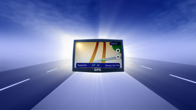 gps and road animated background - road map stock videos & royalty-free footage