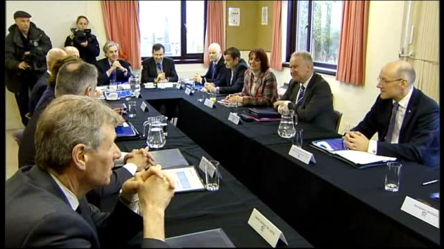UK and Scottish cabinets meet separately in Aberdeen INT Scottish Cabinet meeting at Porthlethen Parish Church Salmond and Nicola Sturgeon MSP at...