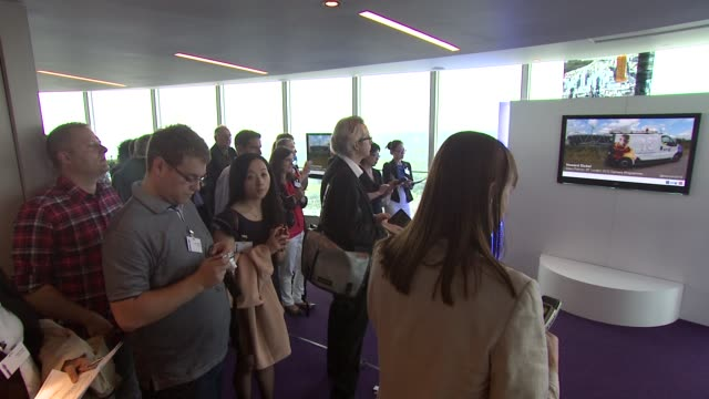 bt and the london 2012 olympic and paralympic games international media reception at bt tower on july 31 2012 in london england - bt tower london stock videos & royalty-free footage