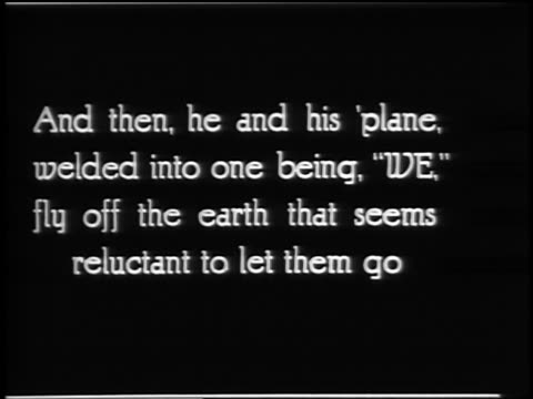 and then he and his 'planefly off the earth / lindbergh documentary - 1927 stock videos & royalty-free footage