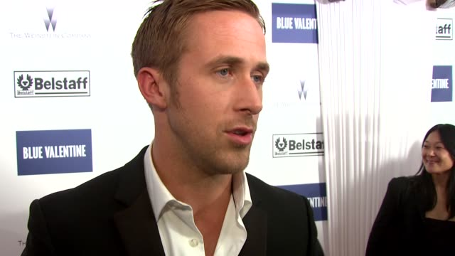 and working on the film for 4 years at the blue valentine party: cannes film festival 2010 at cannes . - ryan gosling stock videos & royalty-free footage
