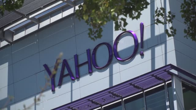 aol and yahoo will be combined into a unit called oath after telecom titan verizon buys the pioneering internet firm according to a tweet monday by... - yahoo brand name stock videos & royalty-free footage