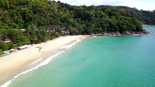 andaman beach aerial view - thailand stock videos & royalty-free footage