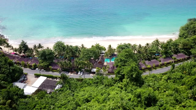 andaman beach aerial view - プーケット県点の映像素材/bロール