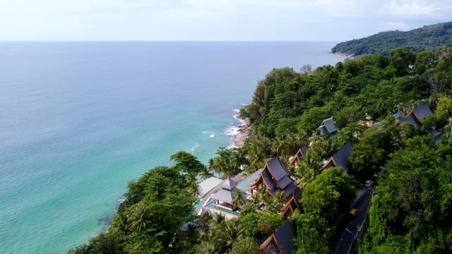 andaman beach aerial view - phuket stock videos & royalty-free footage