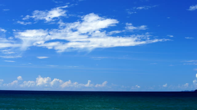 andaman beach,beach thailand - horizon over water stock videos & royalty-free footage