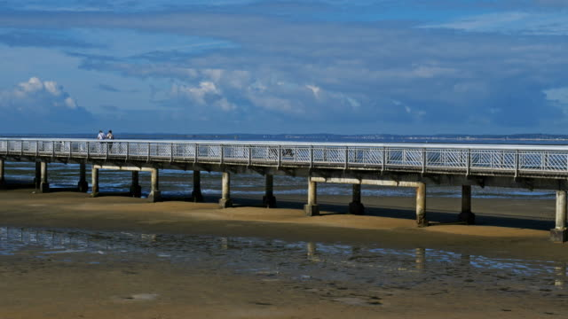 andernos les bains, gironde, arcachon bay, france - arcachon stock videos & royalty-free footage