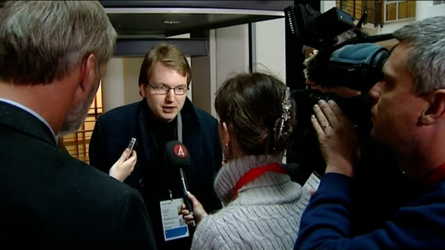 stockvideo's en b-roll-footage met anders behring breivik continues to testify at mass murder trial ext tore sinding bekkedal speaking to press and interview sot a trial after a... - anders behring breivik