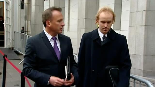 stockvideo's en b-roll-footage met anders behring breivik goes on trial for mass murder ext bjorn ihler and reporter towards bjorn ihler interview sot - anders behring breivik