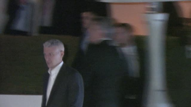 anderson cooper at pre oscar party in bel air at the celebrity sightings in los angeles at los angeles ca - oscar party stock-videos und b-roll-filmmaterial