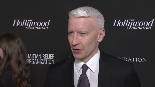 interview anderson cooper at sean penn core gala a gala dinner to benefit the organization formerly known as j/p hro and their lifesaving work at... - wiltern theatre stock videos and b-roll footage