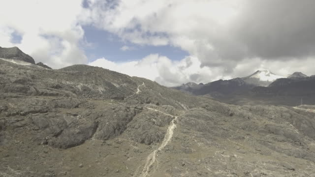 andes mountain trail - la paz bolivia stock videos & royalty-free footage