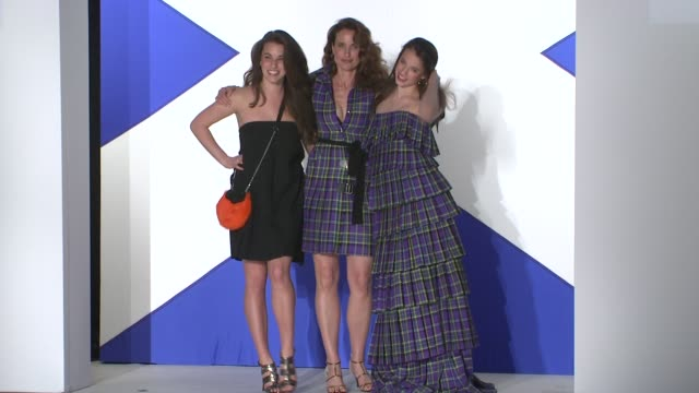 andie macdowell and daughters at the 7th annual 'dressed to kilt' charity fashion show at new york ny. - andie macdowell stock videos & royalty-free footage