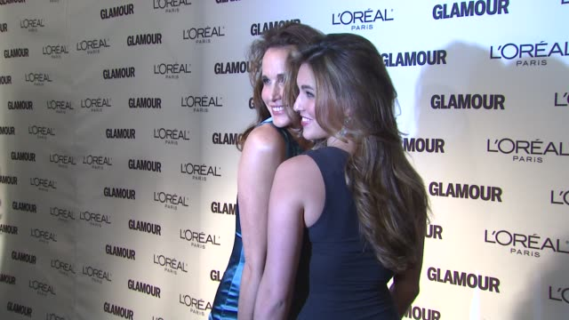 andie macdowell and rainey qualley at the glamour magazine 2009 women of the year honors at new york ny. - andie macdowell stock videos & royalty-free footage