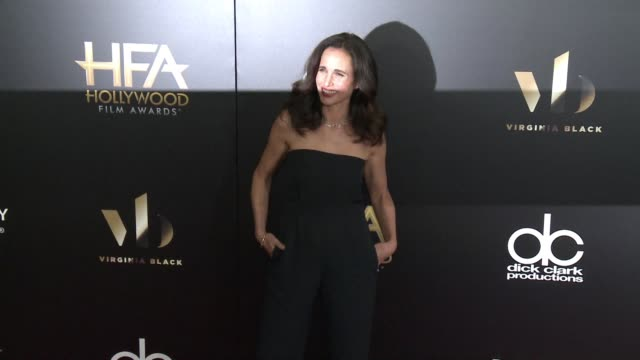 andie macdowell at 20th annual hollywood film awards at the beverly hilton hotel on november 06, 2016 in beverly hills, california. - andie macdowell stock videos & royalty-free footage